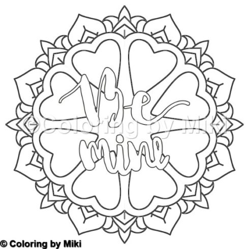 be mine coloring pages - mandala be mine coloring page 38