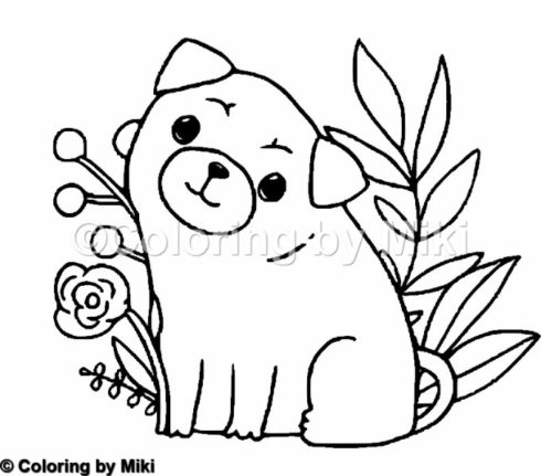 Pug Dogs Coloring Page 183 Coloring By Miki