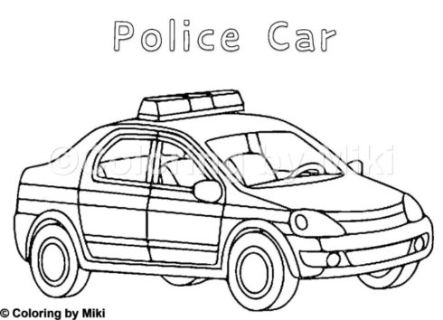 Cars Coloring Page Police Car 197 Coloring By Miki