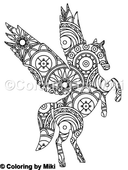Unicorn Mandala Coloring Page 202 Coloring By Miki
