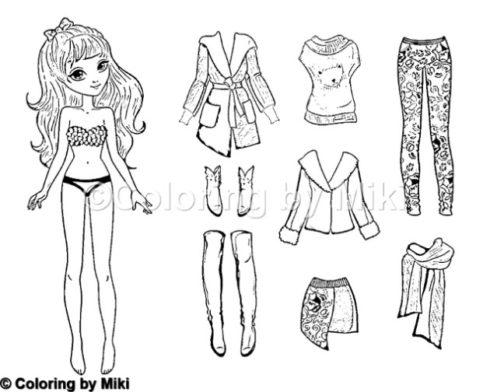 Dress Up Coloring Pages Dressup Doll Coloring Page 231 Coloring by Miki