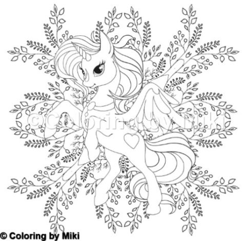 301 Unicorn Coloring by Miki
