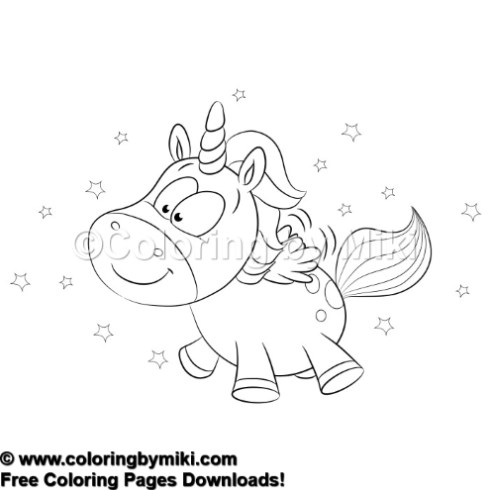 Cartoon Unicorn Twinkle Coloring Page 591 Coloring By Miki