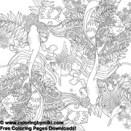 Zentangle Japanese Design Koi Coloring Page 677 Coloring By Miki