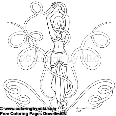 Zen Doodle Tangled Girl Pattern Coloring Page 694 Coloring By Miki
