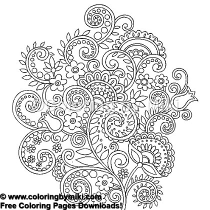 Henna Tattoo Design Coloring Page 730 Coloring By Miki