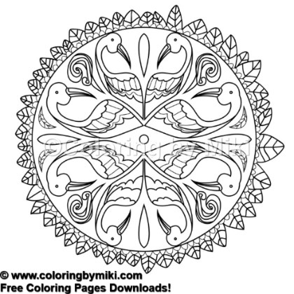 Mandala Flamingo Coloring Page 760 Coloring By Miki