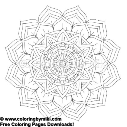 Tribal Mandala Coloring Page 773 Coloring By Miki