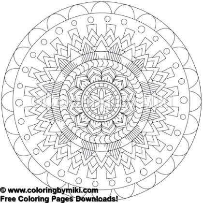Tribal Mandala Coloring Page 776 Coloring By Miki