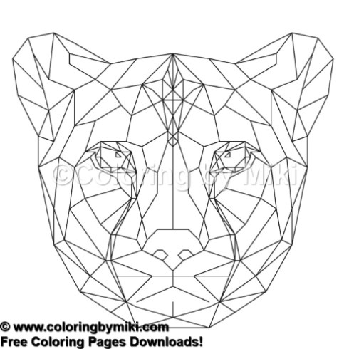 Geometric Animals Cheetah Coloring Page 781 Coloring By Miki