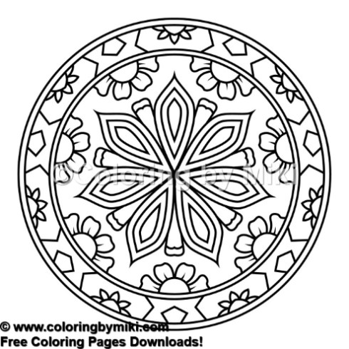 Zen Mandala Coloring Page 810 Coloring By Miki