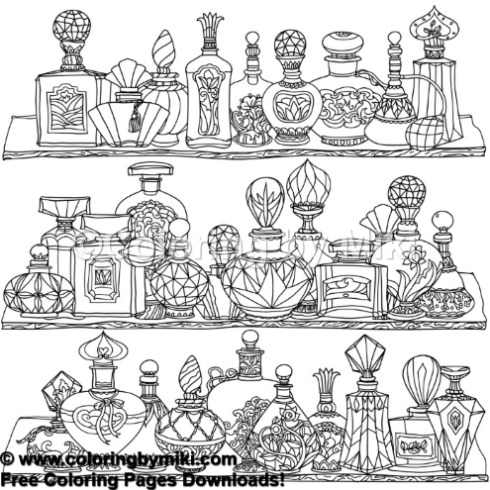 Makeup Perfume Bottles Coloring Page 869 Coloring By Miki