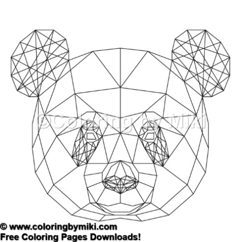 Geometric Animals Panda Coloring Page 885 Coloring By Miki