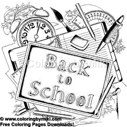 Back To School Coloring Page 918 Coloring By Miki