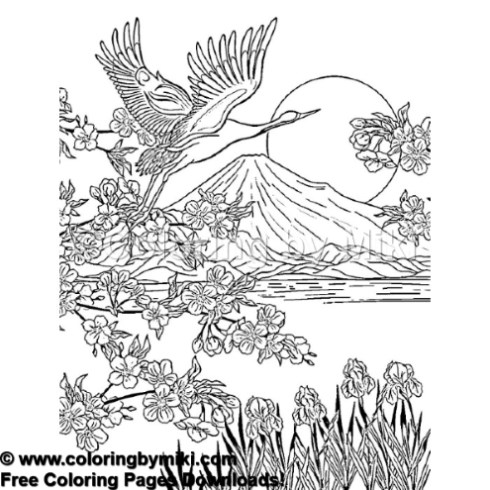 Japan Landscape Mt Fuji Coloring Page 932 Coloring By Miki