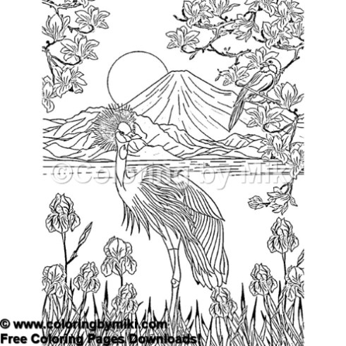 Japan Landscape Mt Fuji Coloring Page 933 Coloring By Miki