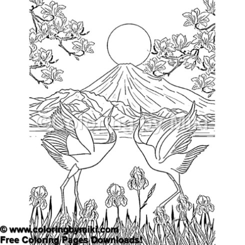 Japan Landscape Mt Fuji Coloring Page 934 Coloring By Miki