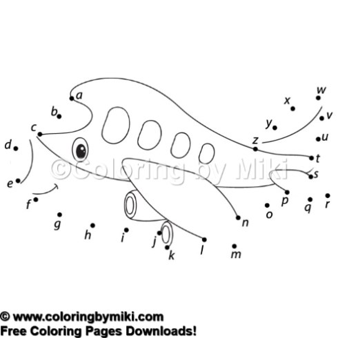 Dot To Dot Game Cartoon Airplane Coloring Page 1146 Coloring By Miki