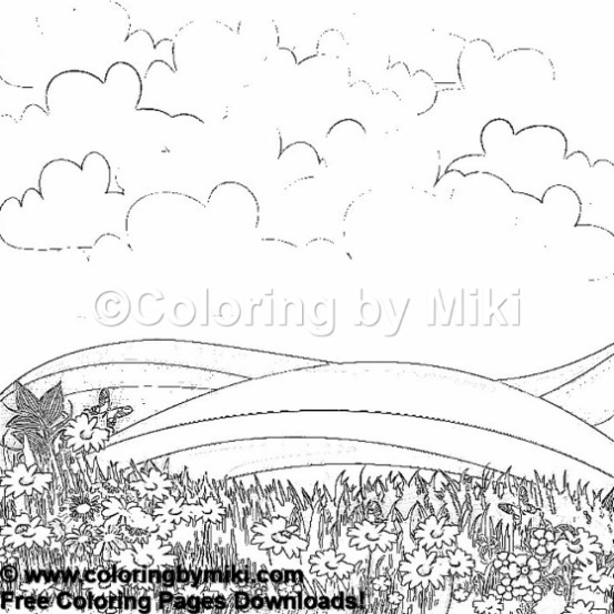 Nature Landscape Coloring Page 1187 Coloring By Miki