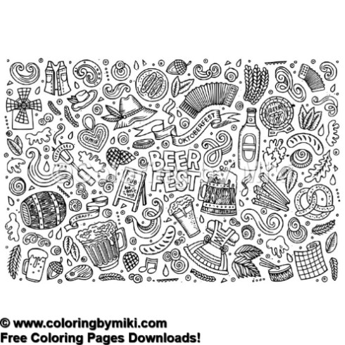 Oktober Fest Bear Fest Coloring Page 1214 Coloring By Miki