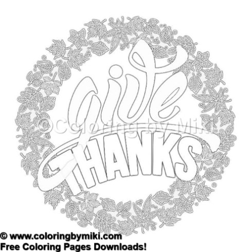 Autumn Thanksgiving Coloring Page 1260 Coloring By Miki