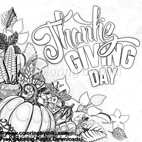 Autumn Thanksgiving Coloring Page 1261 Coloring By Miki