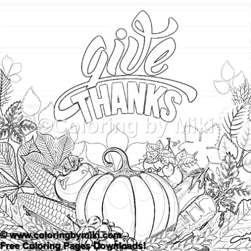 Autumn Thanksgiving Coloring Page 1262 \u2013 Coloring by Miki