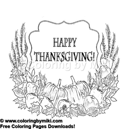 Autumn Thanksgiving Coloring Page 1264 Coloring By Miki