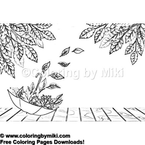 Autumn Thanksgiving Coloring Page 1273 Coloring By Miki