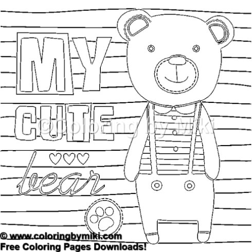 Cute Teddy Bear Boy Coloring Page 1274 Coloring By Miki