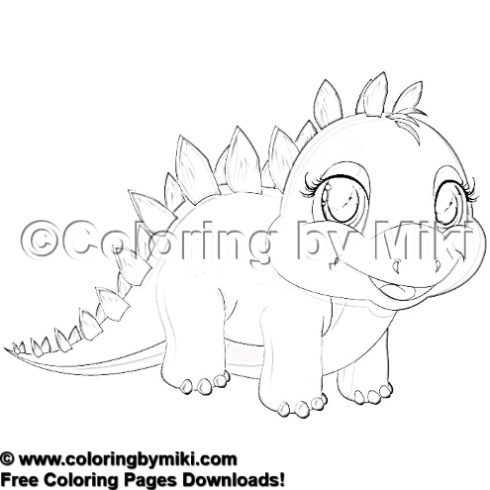 cartoon dinosaur coloring page 1611 coloring by miki