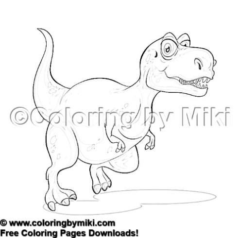 cartoon dinosaur coloring page 1613 coloring by miki